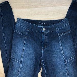 Athleta Sculptek Skinny Dark Wash Jeans 8